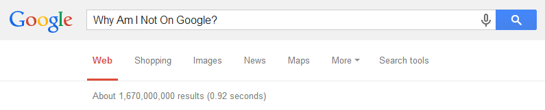 Why am I not on Google?