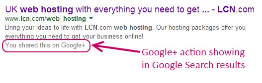 google+ personalisation