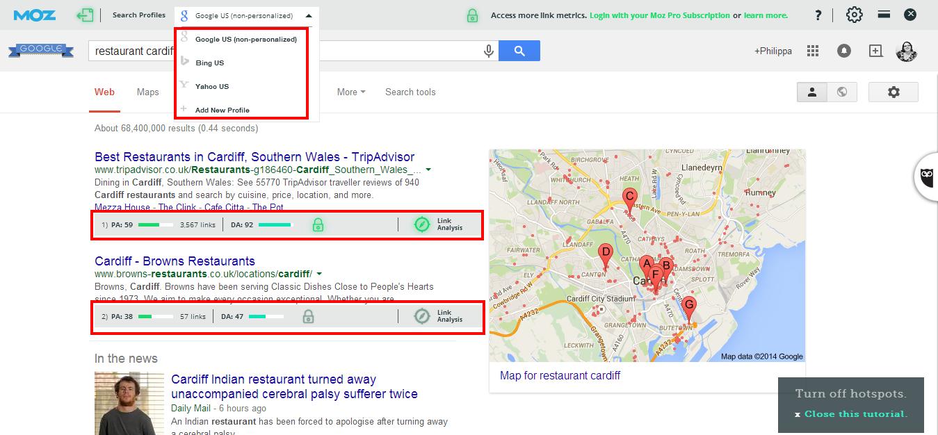 Image 1 MozBar restaurant cardiff   Google Search