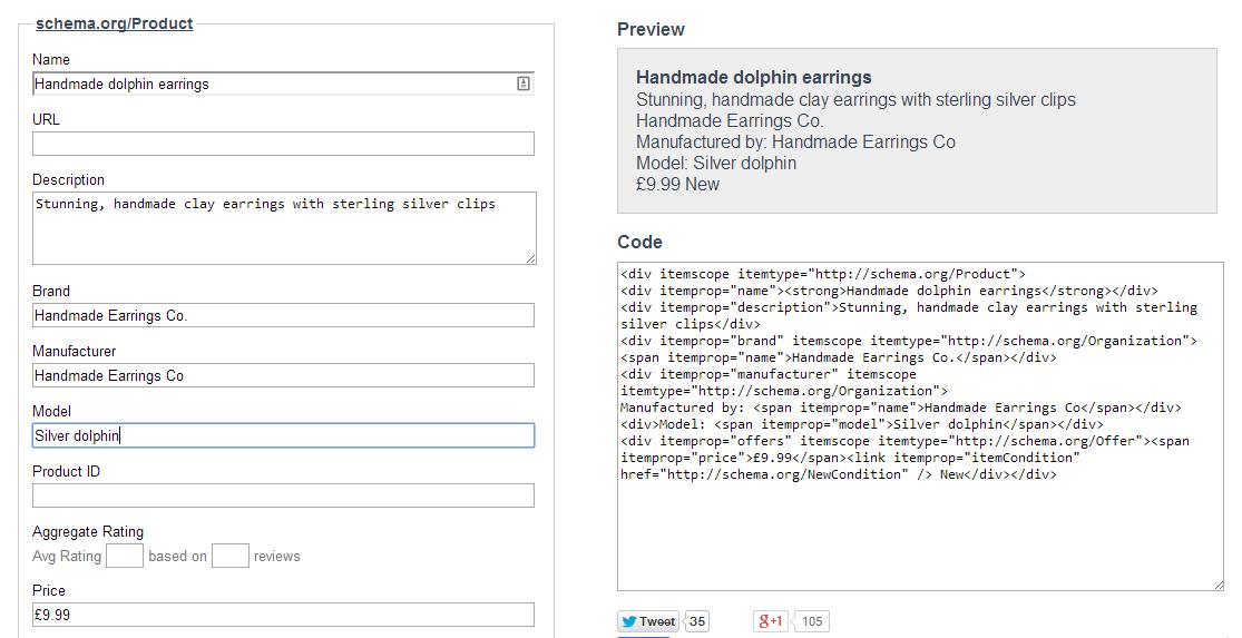 Image 5 Schema Creator for  Product  schema.org microdata