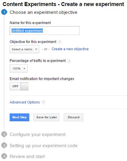 content experiment
