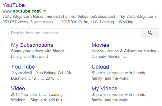 sitelink search