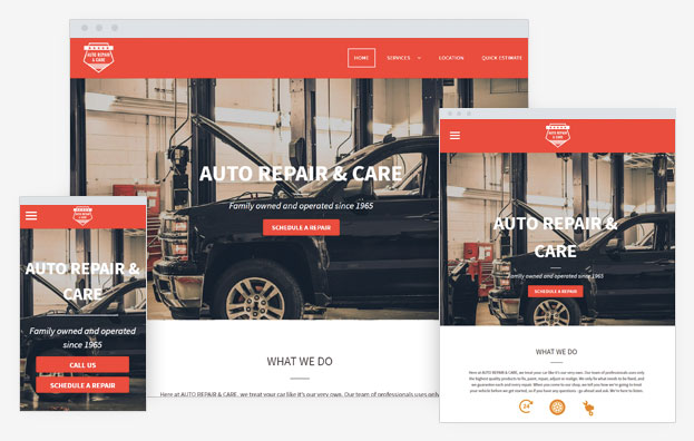 Auto Repair Instantsite Theme