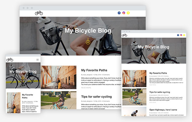 Bike Blog Instantsite Theme