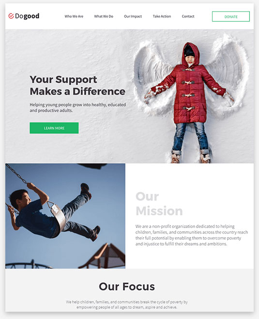 Charity Instantsite Theme
