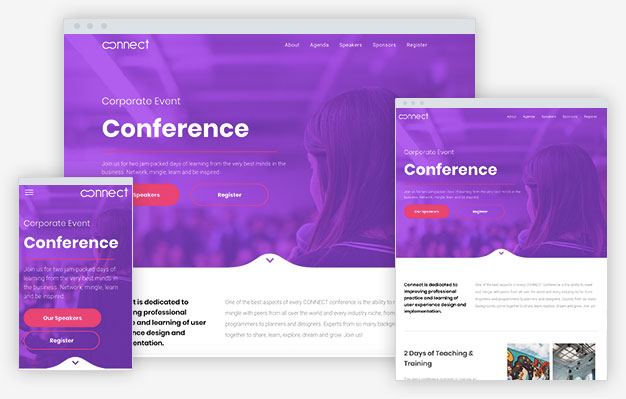Corporate Event Instantsite Theme