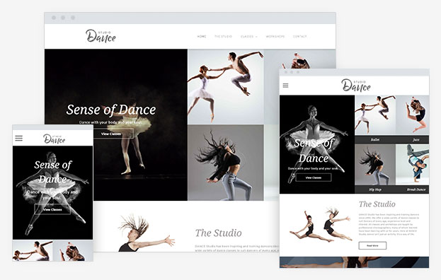 Dance Studio Instantsite Theme