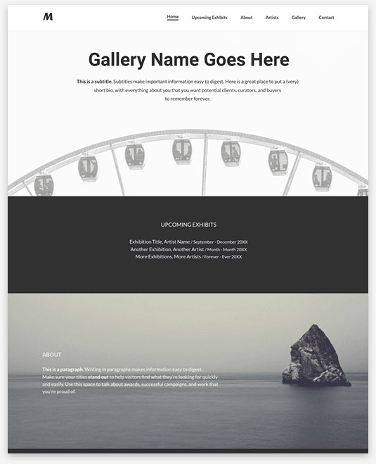 Exhibition Instantsite Theme