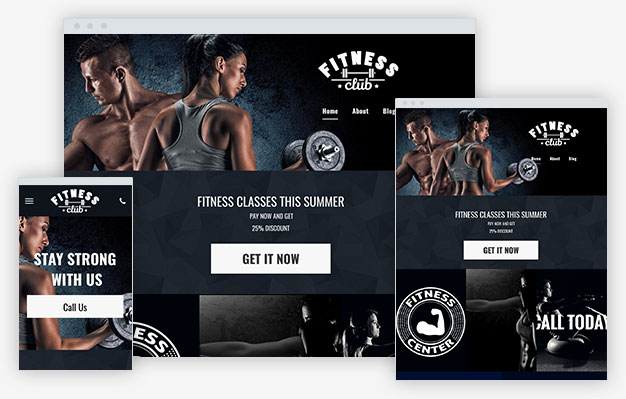 Fitness Club Instantsite Theme