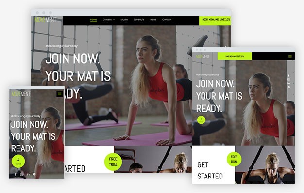Gym Instantsite Theme