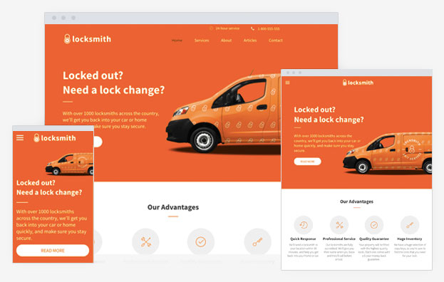 Locksmith Instantsite Theme