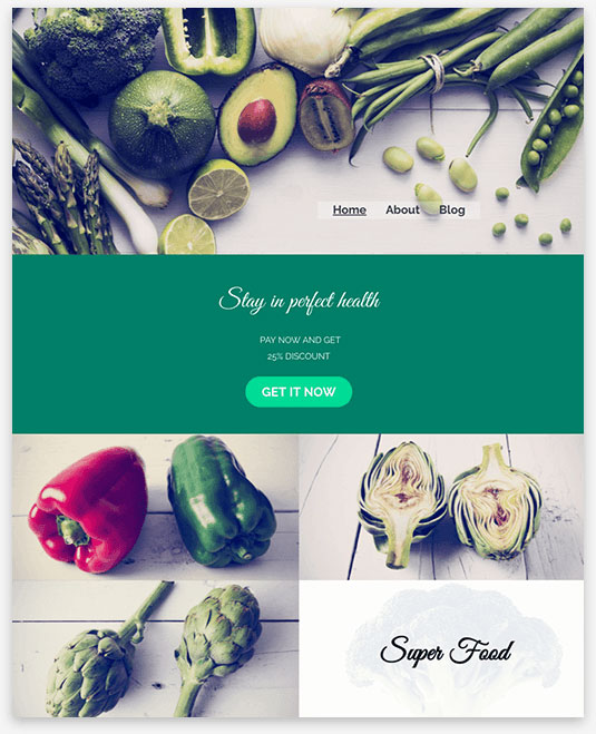 Nutrition Adviser Instantsite Theme
