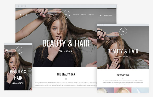 Salon Instantsite Theme