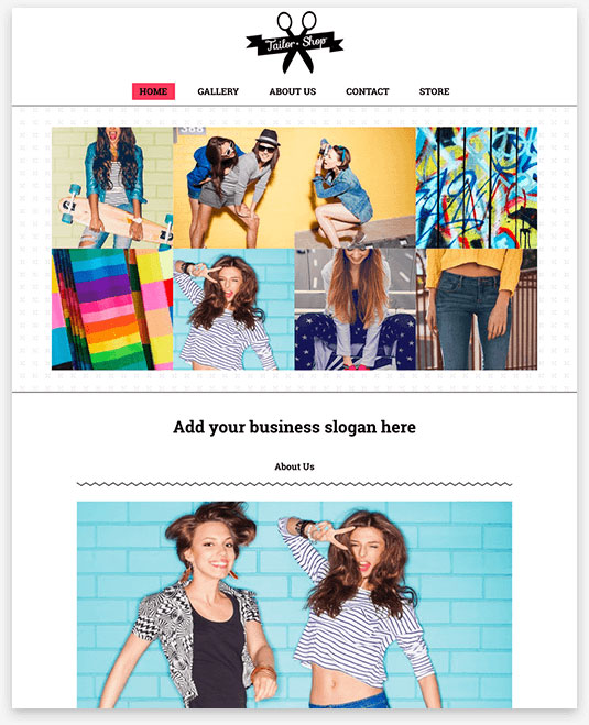 Tailor Shop Instantsite Theme
