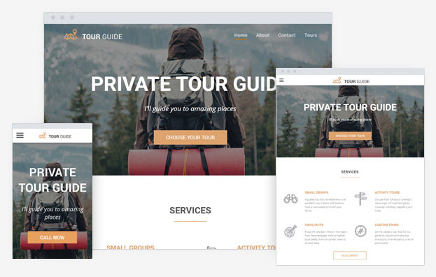 Tour Guide Instantsite Theme