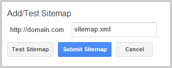 Search Console add sitemap